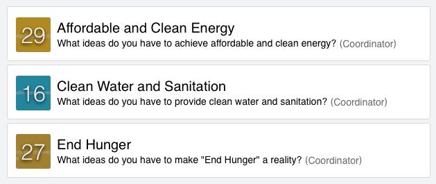 Ideanote Platform with three challenges